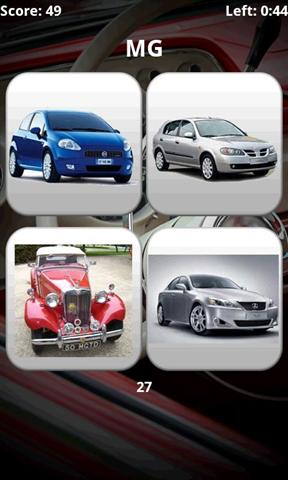 汽车模型问答 Car Models Trivia Quiz
