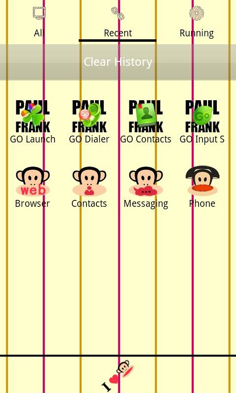 GO桌面可爱大嘴猴主题-应用截图