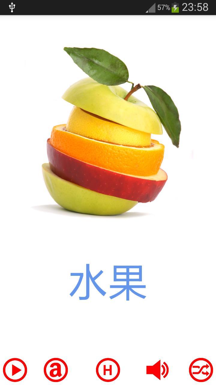 广东话字卡 - 水果