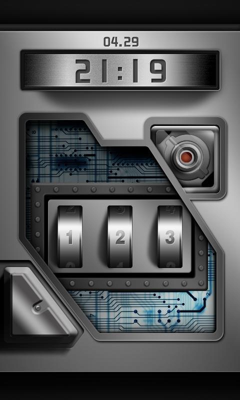 高科技密码锁酷炫锁屏