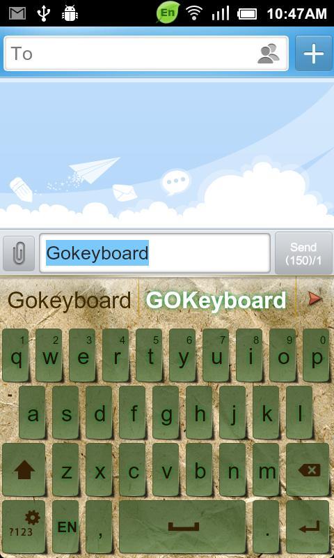 GO Keyboard Kraft Paper theme