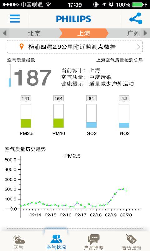 Philips空气监测站-应用截图