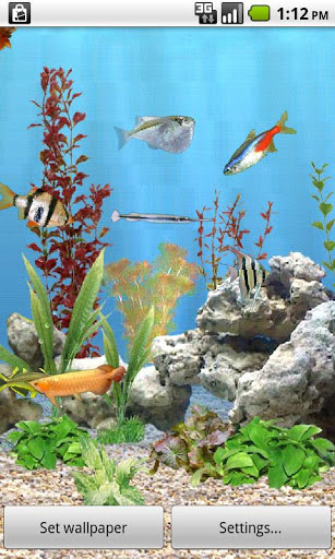 aniPet Freshwater Aquarium free Live Wallpaper
