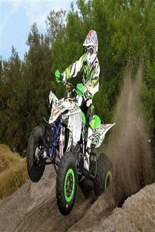沙漠摩托比赛图片